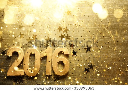 New year decoration with 2016. - stock photo