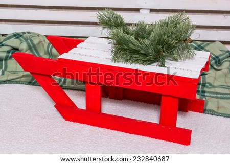 New Year decorations at Christmas, decorative area for a photo shoot - stock photo