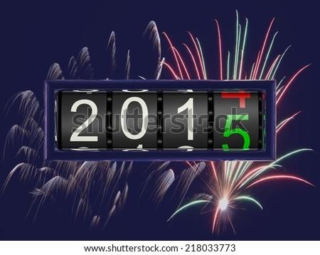 New Year 2015 e - stock photo