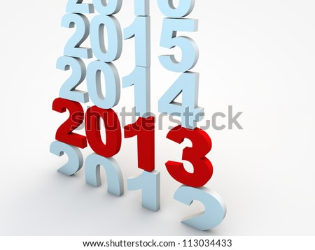 New Year Eve 2013 - stock photo