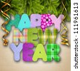 New Year garland - stock photo
