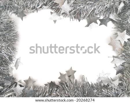 new year garland border with copy space for your text - stock photo