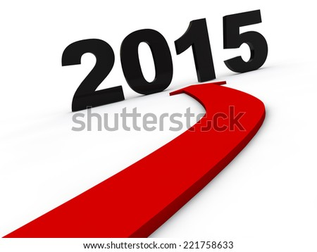 New Year 2015 Happy new year - stock photo