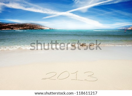 New Year 2013 is coming - stock photo