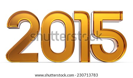 New Year 2015 isolated on white background - stock photo