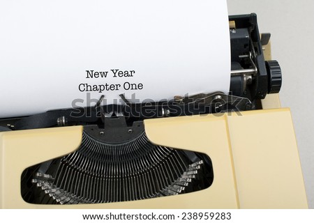 New Year / New Life / New Beginnings Concept - New Year Goals Resolutions Aspirations Concept  - stock photo