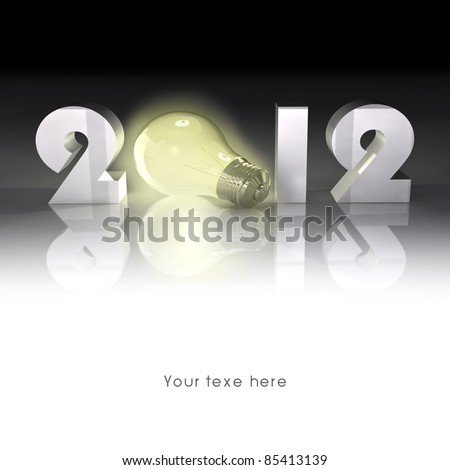 New year, new power work. High-resolution 3d rendering. - stock photo