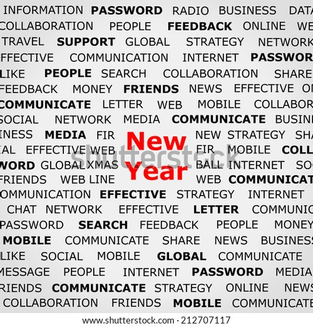 New Year newspaper background - stock photo