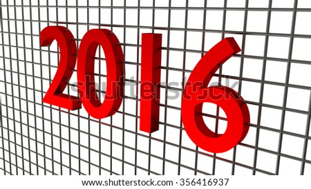 new year 2016 on the wire background - stock photo
