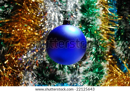 New Year ornament and tinsel - stock photo