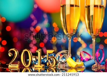 New Year Party Decoration - stock photo