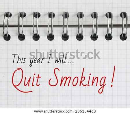New Year Resolution, Quit Smoking. - stock photo