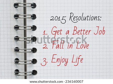 New Year Resolutions 2015 - stock photo