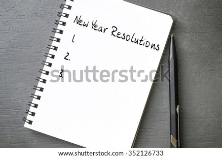 New Year Resolutions - stock photo