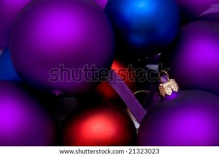 New Year's balls - stock photo
