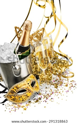 New Year's Eve, Champagne, Party. - stock photo
