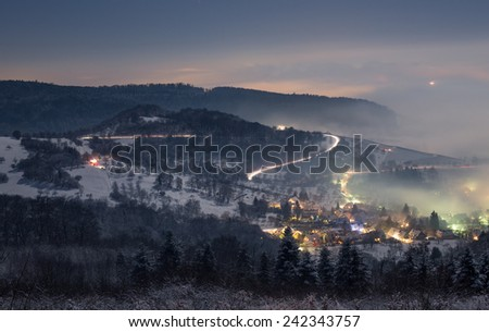 new year's eve fireworks in Freiburg, Germany  - stock photo