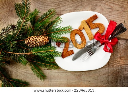 New year's Eve 2015-sylvester 2015 - stock photo