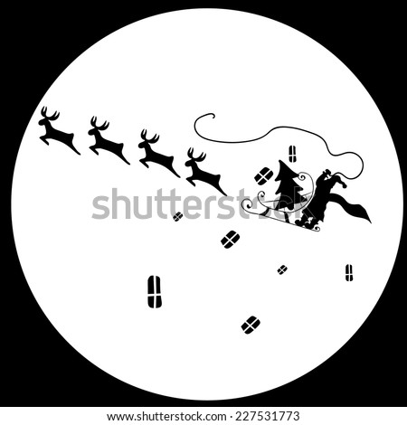 New Year Santa Claus Reindeer  - stock photo