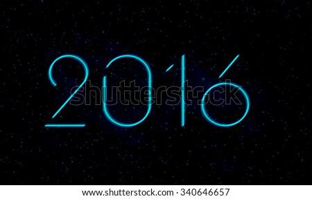New Years 2016 background - stock photo