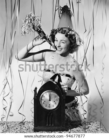 New Years celebration - stock photo