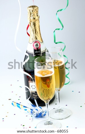 New Years or Party Theme. - stock photo