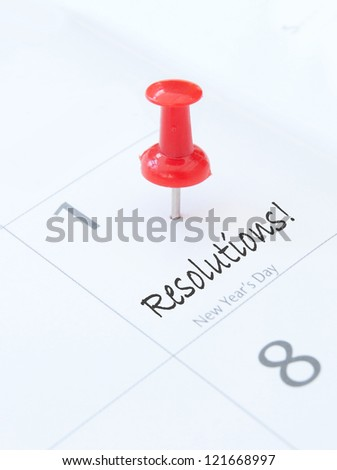 New years resolutions - stock photo