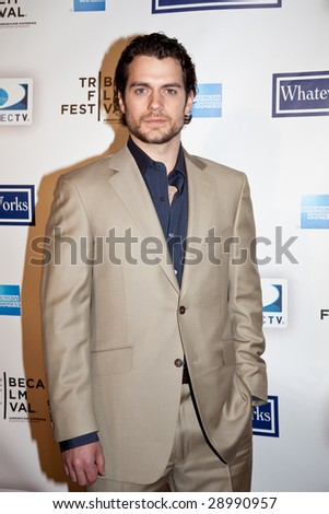 NEW YORK - APRIL 22: Actor Henry Cavilll attends the premiere of 'Whatever Works' during the Tribeca Film Festival at Ziegfeld April 22, 2009 in New York. - stock photo
