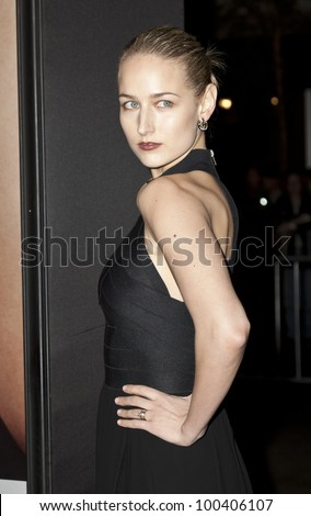 NEW YORK - APRIL 18: Actress Leelee Sobieski attends premiere Five-Year Engagement at Ziegfeld Theatre during 2012 Tribeca Film Festival on April 18, 2012 in NYC - stock photo