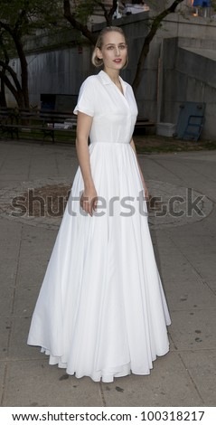 NEW YORK - APRIL 17: Actress Leelee Sobieski attends the Vanity Fair Party during 2012 Tribeca Film Festival at the State Supreme Courthouse on April 1, 2012 in New York CIty - stock photo