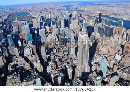 NEW YORK - APRIL 6: The Empire State Building on April 6, 2012 in New York, USA. It stood as the world's tallest building for more than 40 years (from 1931 to 1972), it is1,454 ft (443.2 m) high. - stock photo