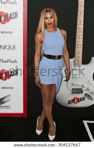 NEW YORK-AUG 3: Actress Laverne Cox attends the 'Ricki And The Flash' New York premiere at AMC Lincoln Square Theater on August 3, 2015 in New York City. - stock photo
