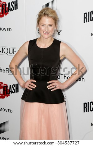 NEW YORK-AUG 3: Actress Mamie Gummer attends the 'Ricki And The Flash' New York premiere at AMC Lincoln Square Theater on August 3, 2015 in New York City. - stock photo
