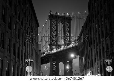new york bridge - stock photo