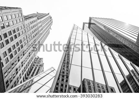 New York buildings perspective  - stock photo