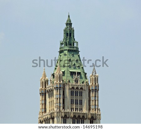 New York City Building Top - stock photo