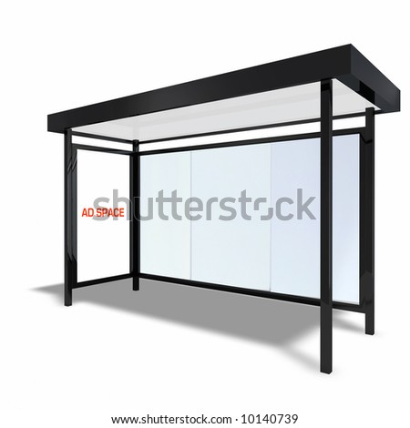 New York City Bus Stop - stock photo