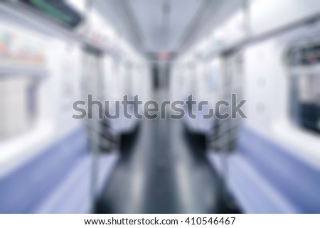 New York City empty train in the morning with panning motion style , blurred background. Creative ways to use for your several project design with several concept and any occasional. - stock photo