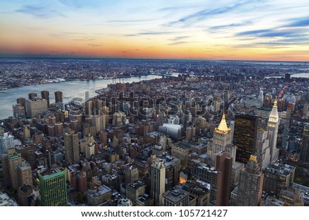 New York city from above. - stock photo