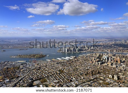 new york city from above - stock photo