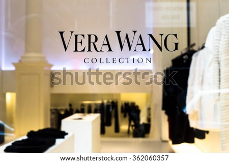 NEW YORK CITY - JANUARY 9, 2016:  View of designer Vera Wang retail store in Soho New York City - stock photo