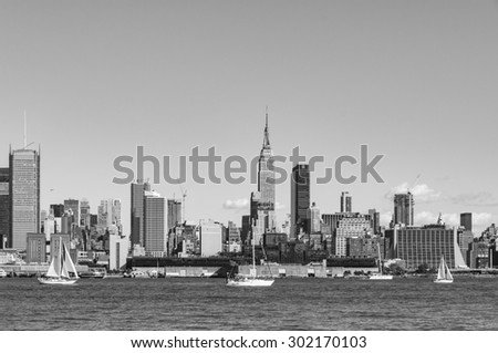 NEW YORK CITY - July 28, 2015: Cityscape view of NYC, New York City, USA. - stock photo
