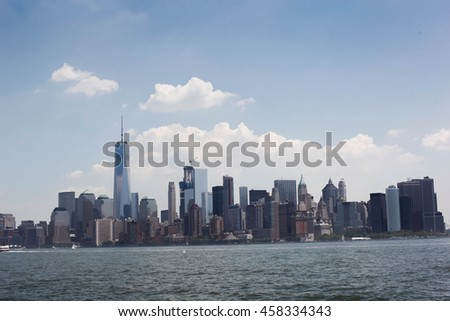 New York City Landscape and Skyscrapers - stock photo
