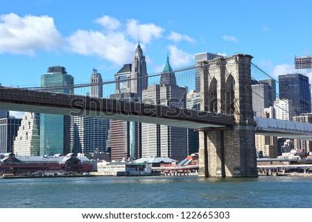 New York City Manhattan cityscape - stock photo
