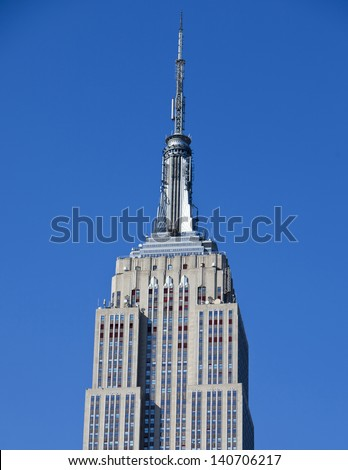 NEW YORK CITY - May 6: Famous Empire State Building on 5th Avenue on May 6, 2012 in Manhattan, New York City. - stock photo