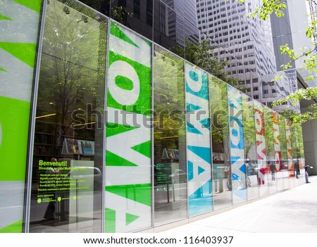 NEW YORK CITY - MAY 6: MoMA is considered to be one of the best modern art museums in the world. It recently went through a major renovation completed by Yoshio Taniguchi May 16, 2012 in NYC, NY - stock photo