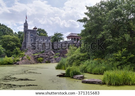 New York City, NY/USA - circa July 2015: Belvedere Castle in Central Park, New York City - stock photo