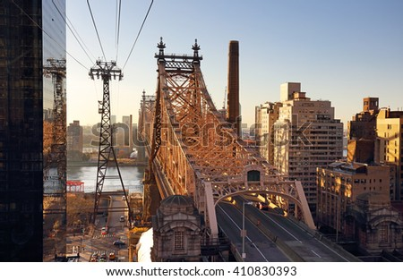 New York City, Queensboro Bridge, USA - stock photo