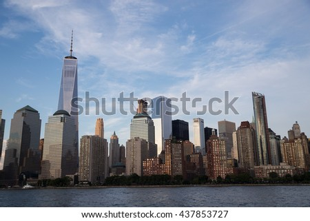 New York City Skyline Cityscape - stock photo