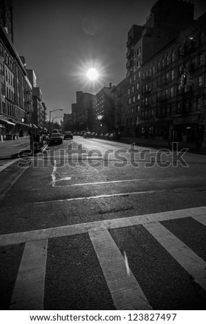 New York City Street - stock photo